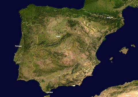 Spain and Portugal map: The atlantic diet In the north west