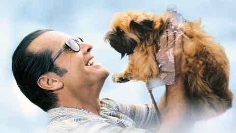 Jack Nicholson in the Film As good as it get, talking to the brussels griffon