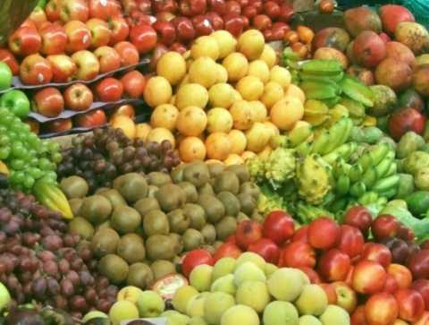 Fresh fruits at the market. Eat real food