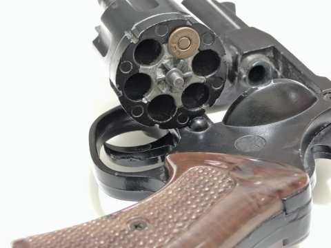 A revolver with a load in the chamber