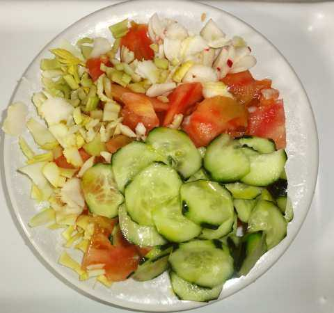 Before Start With A Big Giant Vegetable Salad Or With A Very Large Dish Of Boiled Vegetables