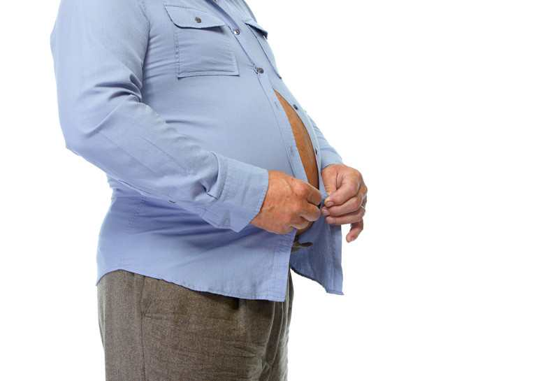 Man with abdominal obesity