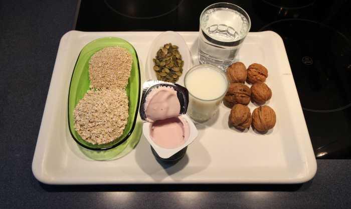 Ingredients for my quick homemade muesli