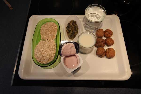 Ingredients for my homemade muesli